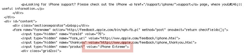 iPhone Extreme Hidden in Apple's iPhone Feedback Page (UPDATED)