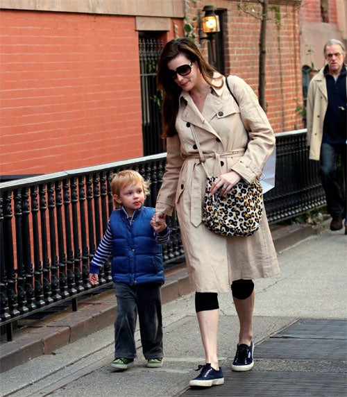 Liv Tyler Lets Son Skip The Sidewalk Grate