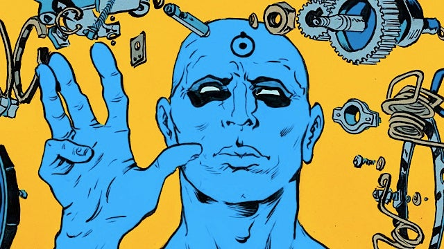 At comic book shops tomorrow, Dr. Manhattan and all of The Invisibles between two covers!