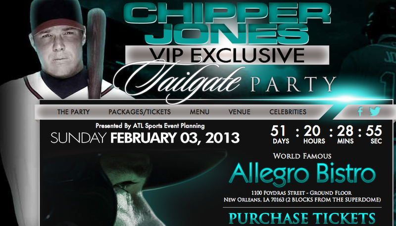Fat Chipper Jones Is Throwing A Horrible Super Bowl Party