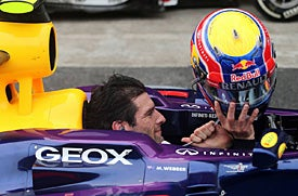 I didn't know mark webber kept the red bull colors