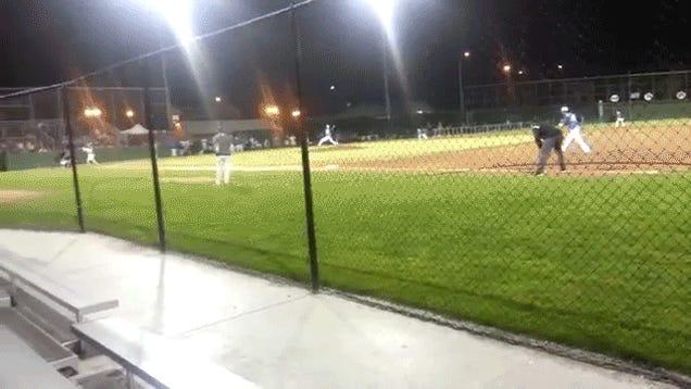 Pitcher Hits Batter In Head; Batter Fires Bat Back At Pitcher