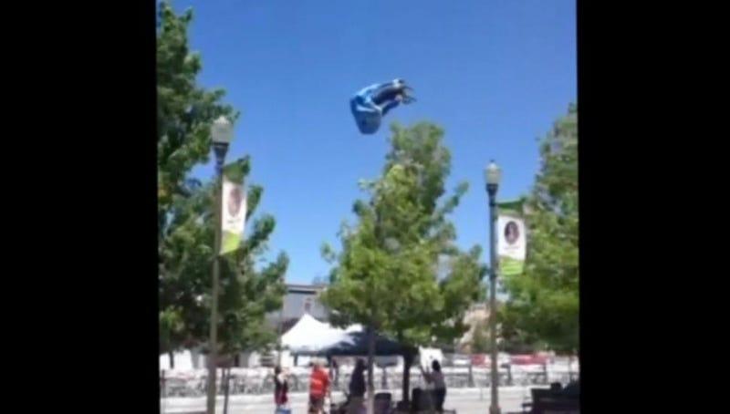 Nevada Dust Devil Sends Bouncy Slide Flying