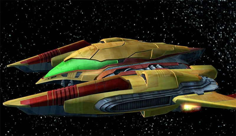 Metroid Heroine Rides Through Space On A Ship With No Name