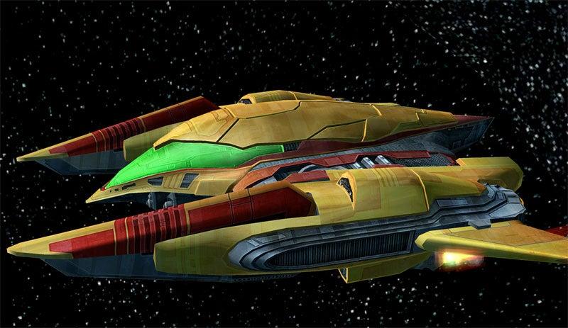 Metroid Heroine Rides Through Space On A Ship With No Name