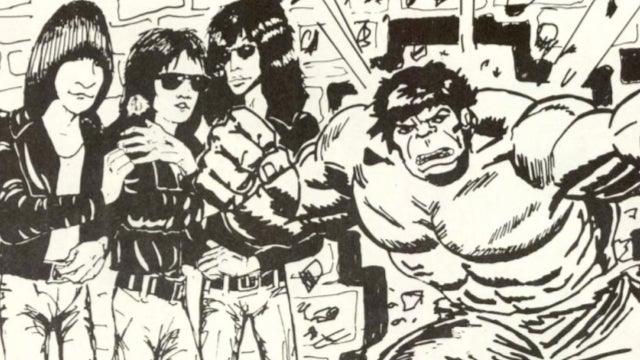Remember when The Ramones met the Incredible Hulk?