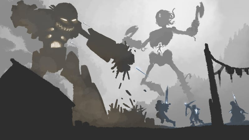 Dwarven mechs battle the bones of giants in War of Metal and Bone RPG