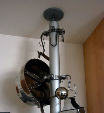 Build a Vertical Pot Rack from Spare IKEA Parts
