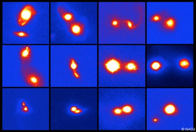 Merging galaxies can contain multiple active supermassive black holes