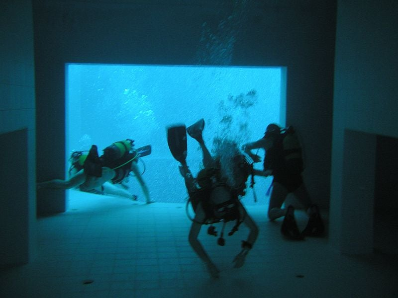 The world's deepest diving pool is like an underwater city