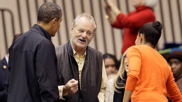 Bill Murray Casually Chats Up The Obamas