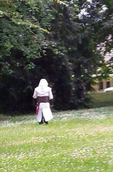 "German town of Rottweil panics over sightings of ""Combat Monk"""