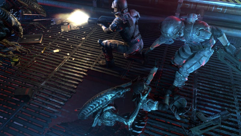 The Latest Aliens: Colonial Marines Screens Are a Study in Sticky Situations