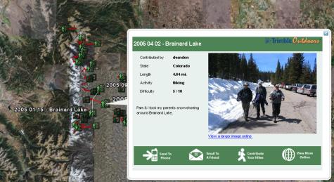 Google Earth adds hiking trails