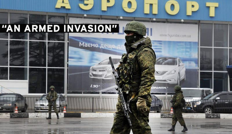 "Gunmen Seize Crimea's Airports, Ukraine Warns of Russian ""Occupation"""