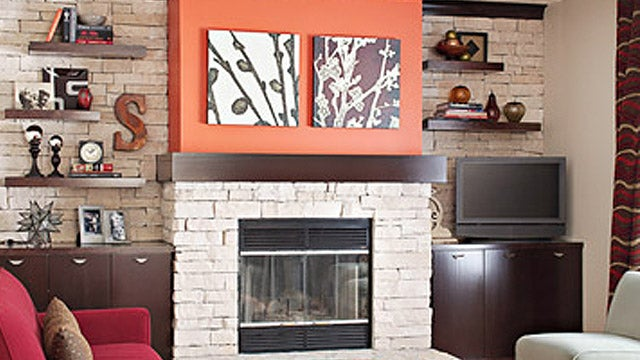 DIY Fireplace Makeover with Stone Veneer