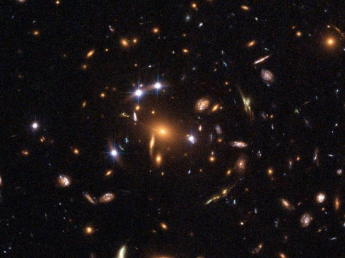 Quasar gravitational lens is seen for the first time ever