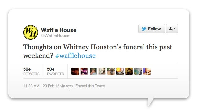 The Grossest Corporate Tweet of the Week Goes to... Waffle House!