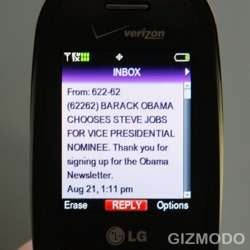 Announce Fake Obama Running Mate with Text Messages