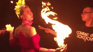 <i>DOTA 2</i> Cosplayer Set On Fire