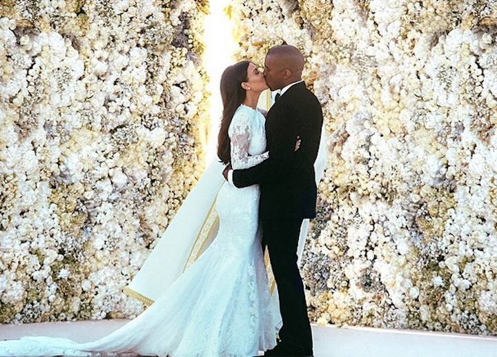Kanye and Kim Spent 4 Entire Days Producing Wedding Instagram Photo