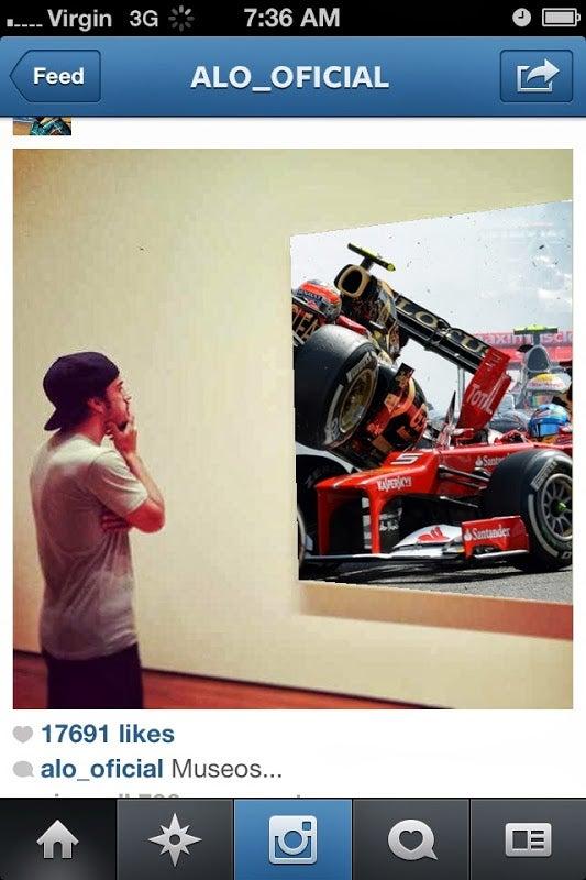 Fernando Alonso Looking At Things