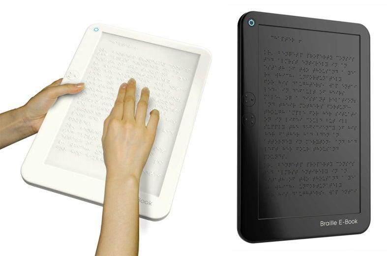 Braille E-Reader Concept Raises Dots with E-Ink