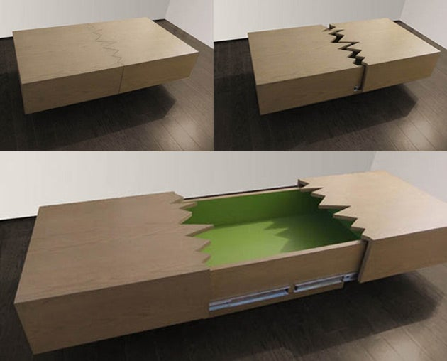 This Coffee Table Is Supposed To Break In Half