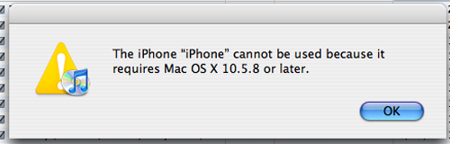 We Missed This: iPhone 4 Requires OS 10.5.8