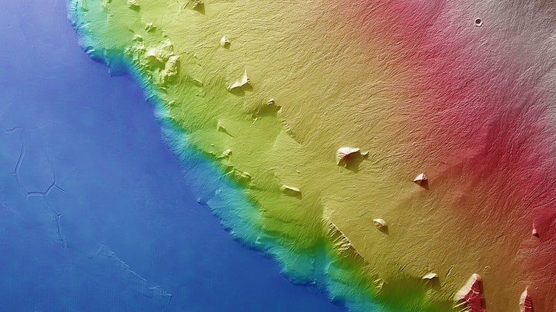 The Frozen Lava Flows of Mars