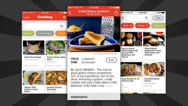 The NYT Cooking App Includes Tons of Easy to Search Through Recipes