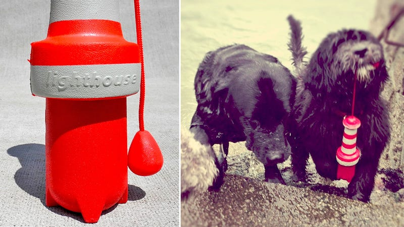 Self-Righting Floating Lighthouse Toy Is a Beacon of Fun For Your Dog