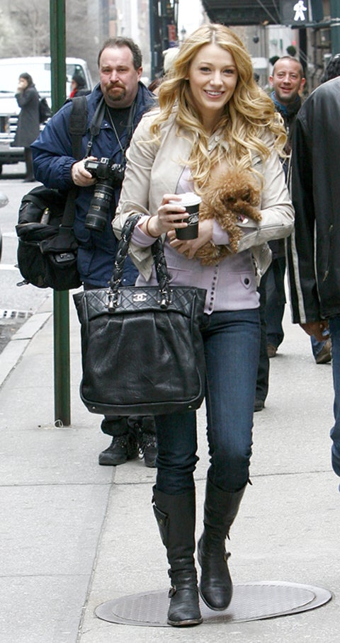 Gossip Girl Carries Chanel, Coffee, Canine