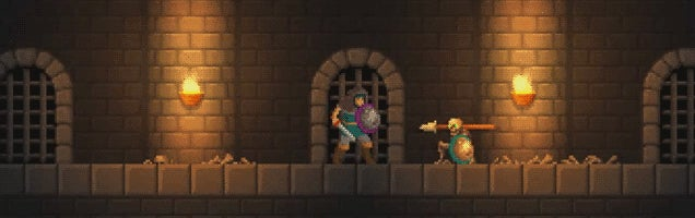 Intricate Sword And Board Combat Meets Castlevania-esque Dungeons