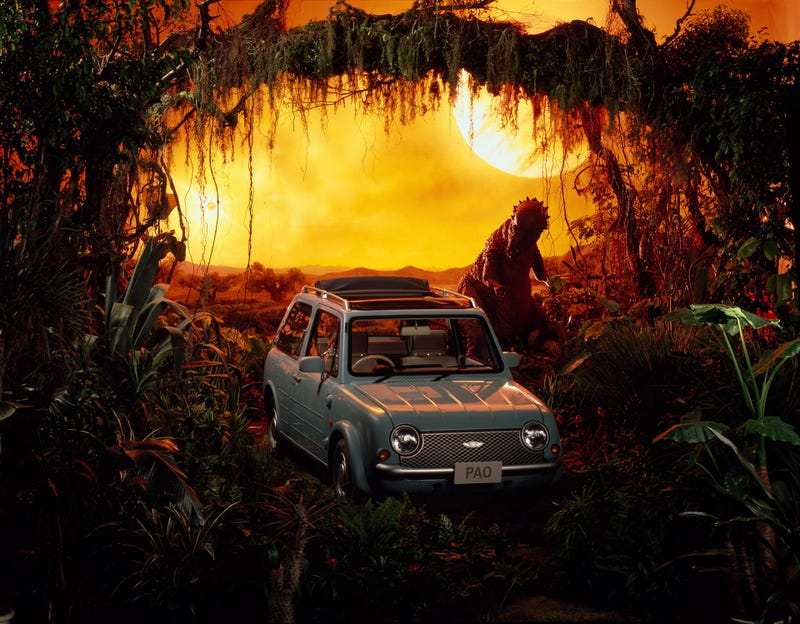 The Nissan Pao's Press Pics Have Dinosaurs, Are The Greatest Ever
