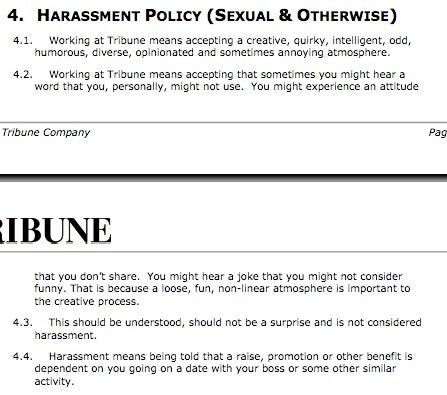 Sam Zell's Awesome Handbook for Tribune Employees