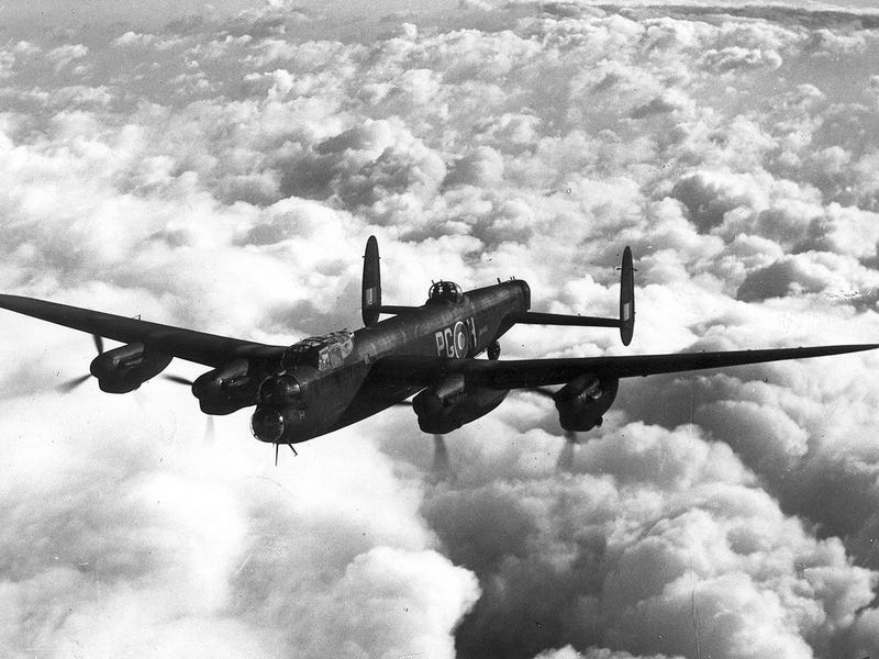 Flying Fortress Friday? Here's my Grandfather's Lancaster