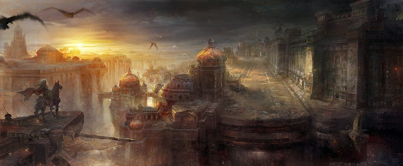 I Want an Entire Coffee Table Book Made From This Video Game Artist's Amazing Paintings