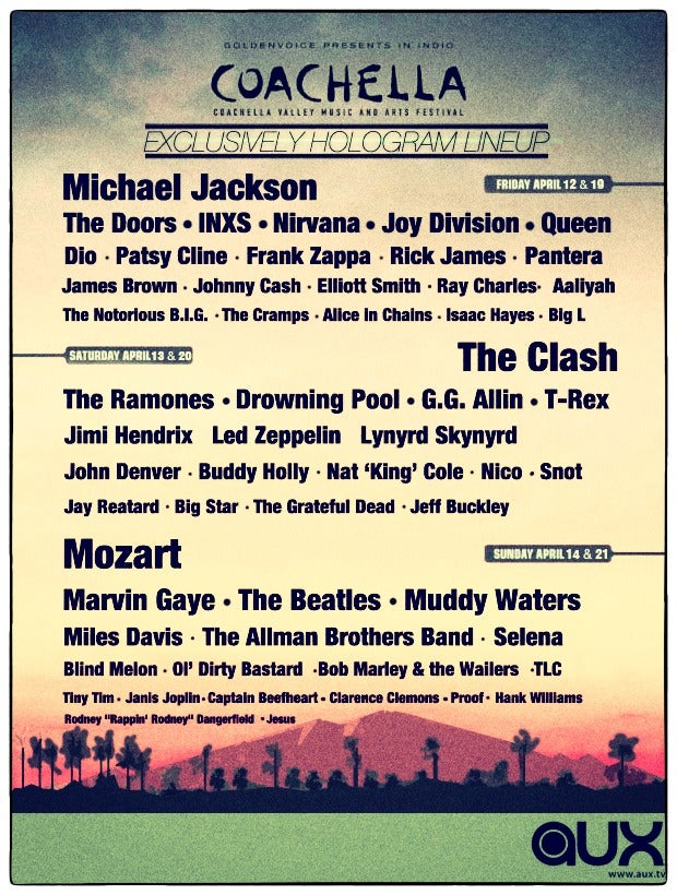 Today's Fake Coachella Hologram Lineup Is Tomorrow's Real Coachella Hologram Lineup