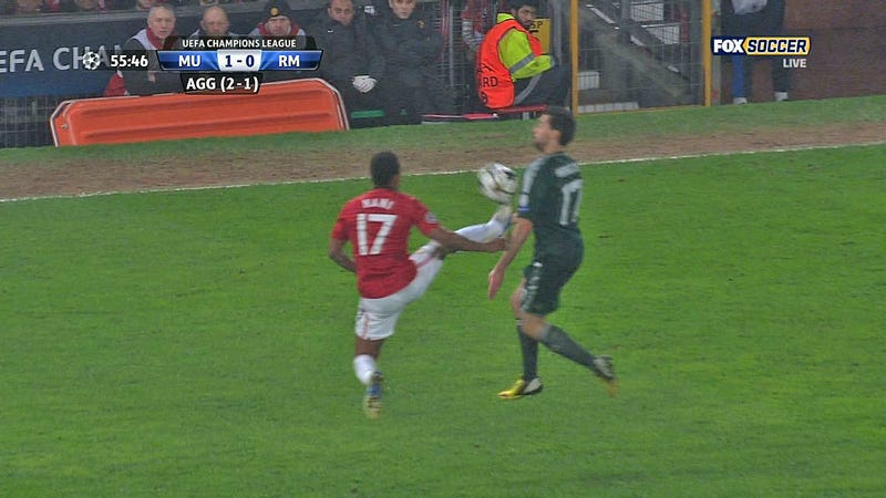 Manchester United Eliminated From Champions League Due To Ridiculous Red Card
