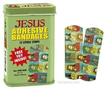 Jesus Saves: Jesus-Themed Adhesive Bandages
