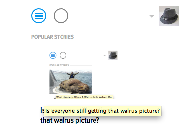 Is everyone still getting that walrus picture?