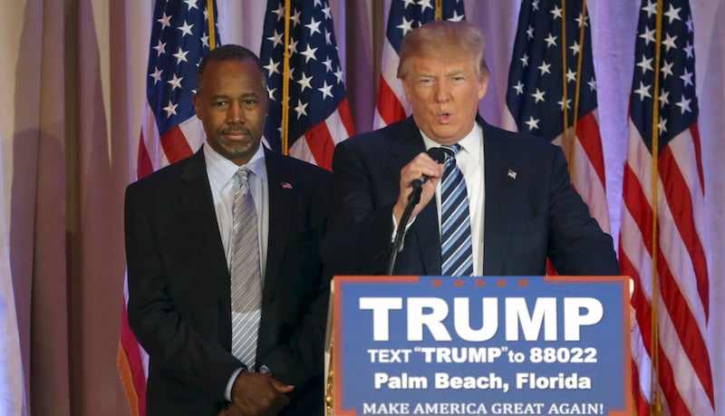 Ben Carson Confident Ted Cruz Will Drink the Orange Kool Aid Soon