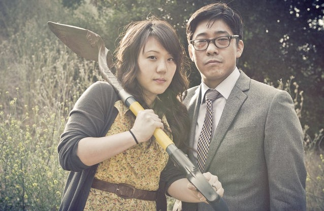 Zombie engagement photos display commitment, excellent teamwork