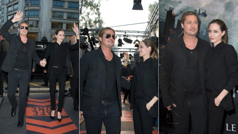 Angelina and Brad Are Well-Suited in Paris