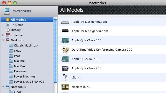 Mactracker Gives Loads of Hardware Info About Any Mac in Existence
