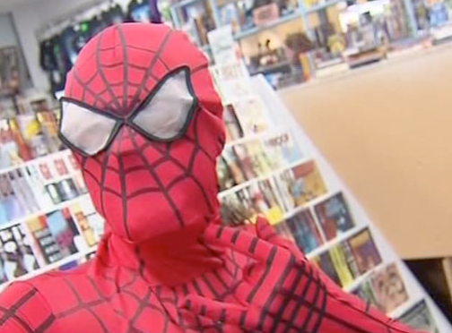 Comic Book Store Thief Caught By Spiderman