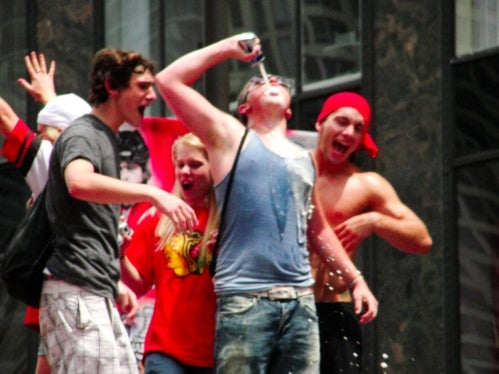 Asshole Kids Try Their Best To Ruin Blackhawks Victory Parade