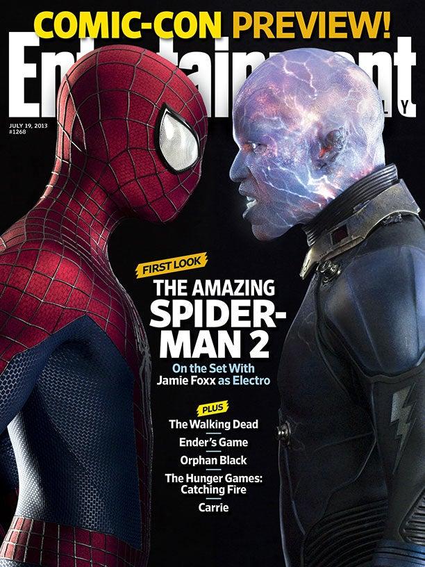 Holy crap Jamie Foxx looks insane as Electro in Amazing Spider-Man 2