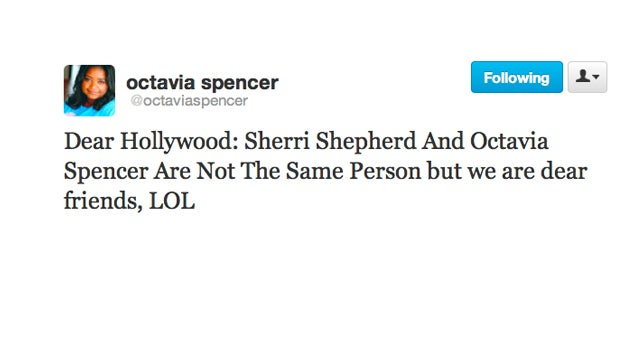 Hollywood, For The Last Time, Octavia Spencer and Sherri Shepherd Are Different People